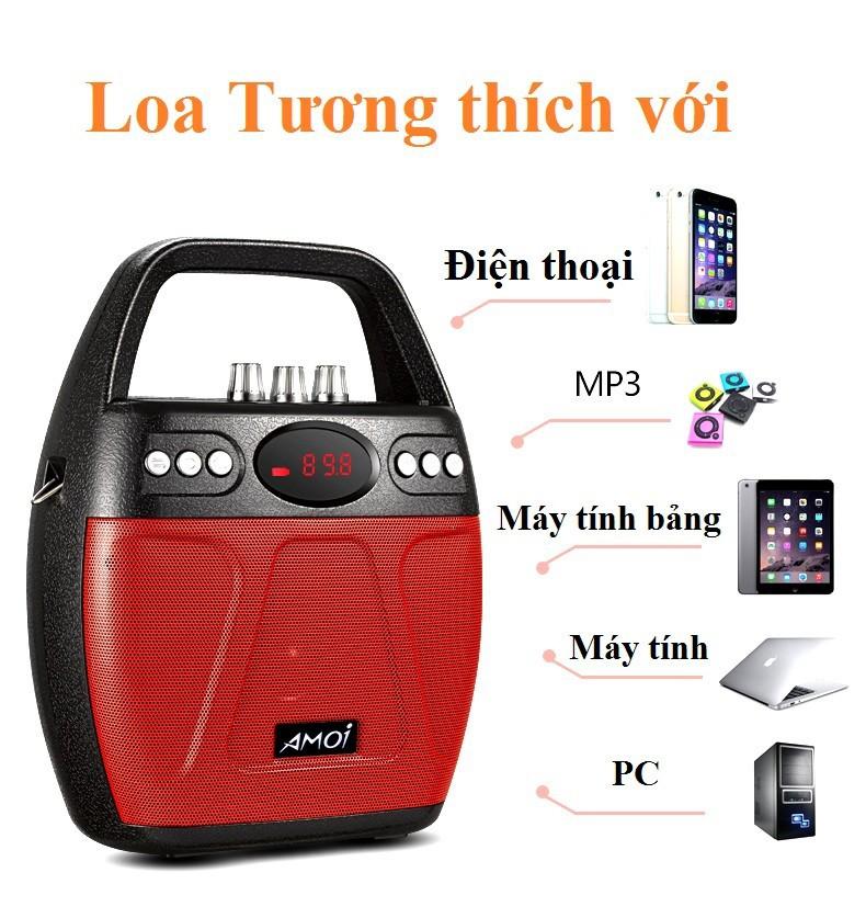 Loa kẹo kéo Bluetooth Echo PKCB-610 cắm Micro thẻ nhớ USB Điện thoại 11