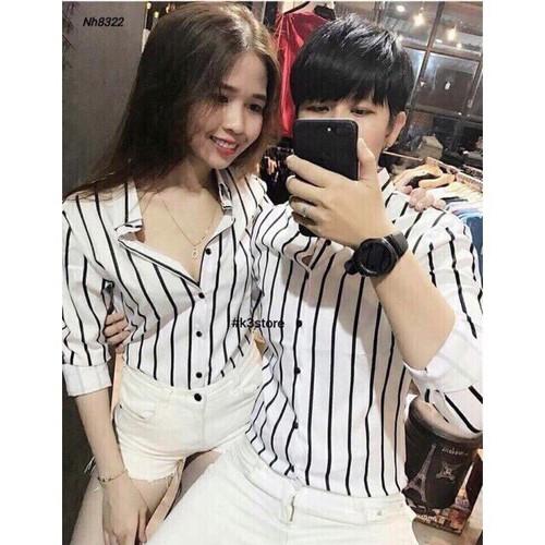SM102_Áo Sơ Mi Sọc Quảng Châu-Cho Phép Kiểm Hàng