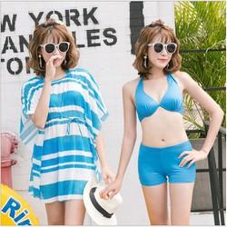 Bikini - Đồ bơi kèm áo thun mỏng