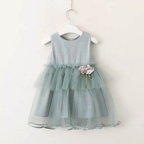 Váy công chúa đính hoa ngực cho bé 12-22kg