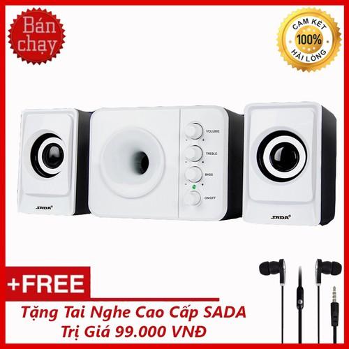 Bộ Loa Máy Tính USB SADA D-205  + Tặng Tai Nghe Nhét Tai
