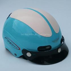 Mũ Bảo Hiểm GRS A102 màu xanh da trời line trắng