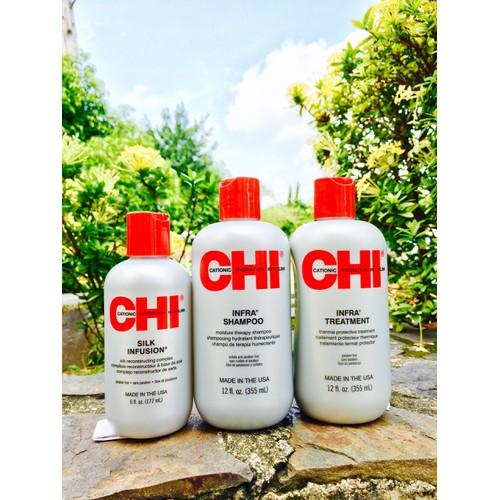 Bộ sản phẩm chăm sóc tóc khô và hư tổn CHI INFRA 355ml
