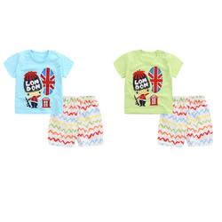 02 đồ bộ cotton thun bé trai mặc nhà cho mùa hè mát mẻ - đồ bộ đi biển