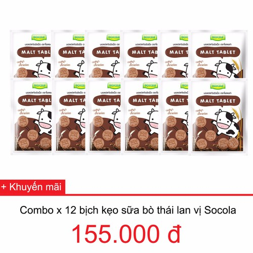 Kẹo sữa bò thái lan vị socola x 12 bịch - 5886089 , 9940687 , 15_9940687 , 155000 , Keo-sua-bo-thai-lan-vi-socola-x-12-bich-15_9940687 , sendo.vn , Kẹo sữa bò thái lan vị socola x 12 bịch