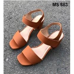 Giày cao gót đế vuông   Giày công sở   Giày sandal nữ