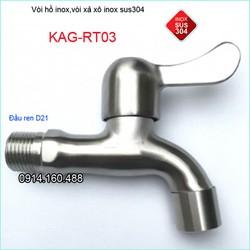 Vòi xả gắn tường inox 304, vòi nước máy giặt KAG-RT03