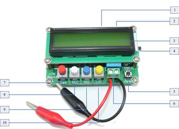 Mạch đo cuộn cảm - tụ điện LC100A hiển thị LCD 1