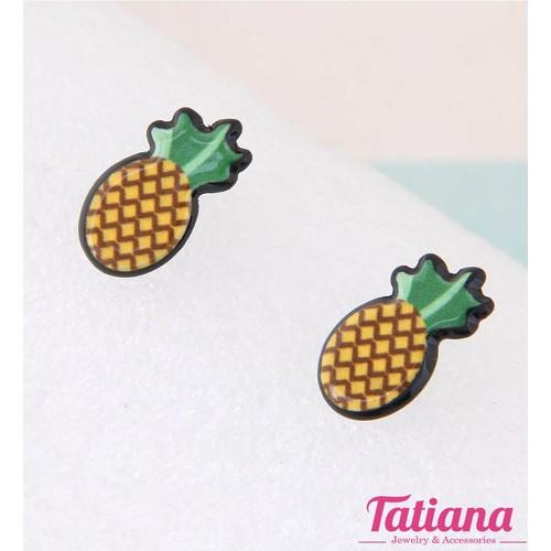 Bông Tai Hàn Quốc Tiny PineApple - Tatiana - BH3051 - Vàng