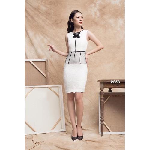 Đầm body ren trắng viền đen phối lưới 2253 - 5886135 , 9940847 , 15_9940847 , 519000 , Dam-body-ren-trang-vien-den-phoi-luoi-2253-15_9940847 , sendo.vn , Đầm body ren trắng viền đen phối lưới 2253