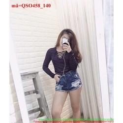 Quần short jeans nữ sước rách vụi sành điệu QSO458