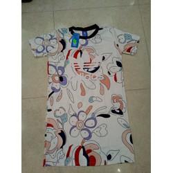 Đầm suông thun lạnh in chữ adidat  - cực mát cực mịn