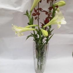 Lọ hoa pha lê cao cấp  trắng