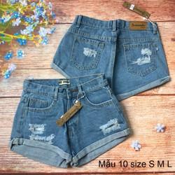 Quần short jeans - size S - M -L