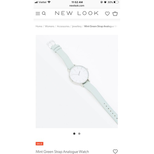 Đồng hồ New Look Mint Green Strap
