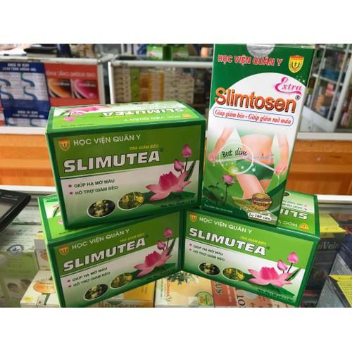 Bộ giảm cân slimtosen extra gồm 1 slimtosen extra + 3 trà slimutea