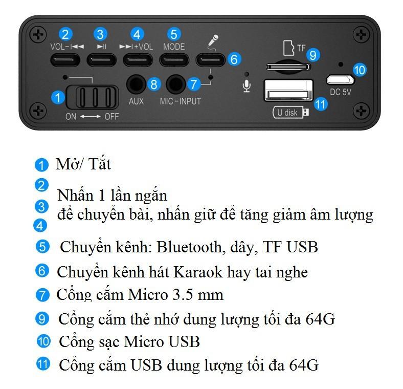 Loa gỗ Super BassHIFI Stereo speakerPKCB-03 3