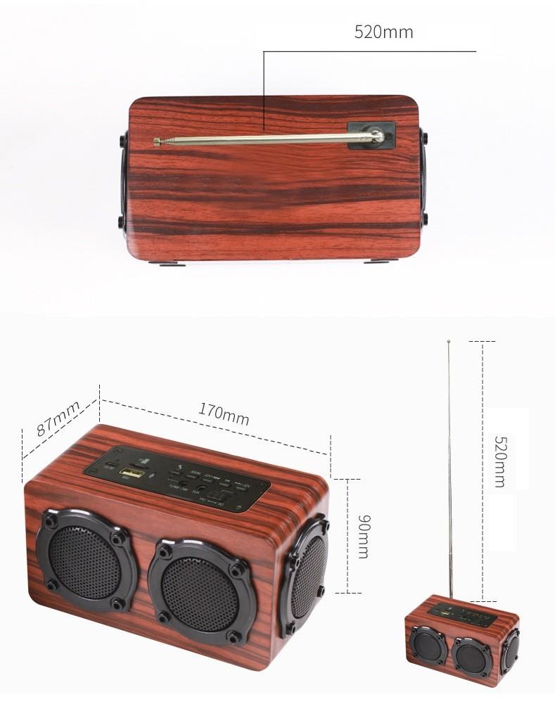 Loa gỗ Super Bass HIFI Stereo speaker PKCB-05 4