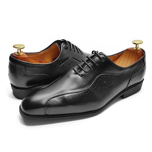 Giày Tây Nam Cao Cấp Ensado CS52 – 2 Màu - Đen – Vàng
