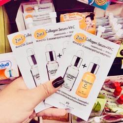 Combo 2 Kem Dưỡng trắng da Collagen và Vitamin C Roya Beauty Thái Lan