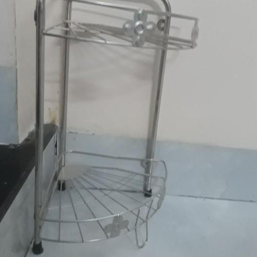 Kệ góc inox 2 tầng để nhà tắm hay bàn bếp