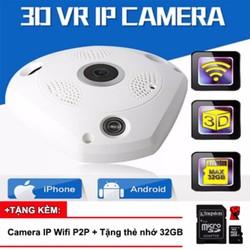 VR Cam, VR Camera 360 độ HD 960P, 3D Panoramic + Tặng kèm thẻ nhớ 32GB