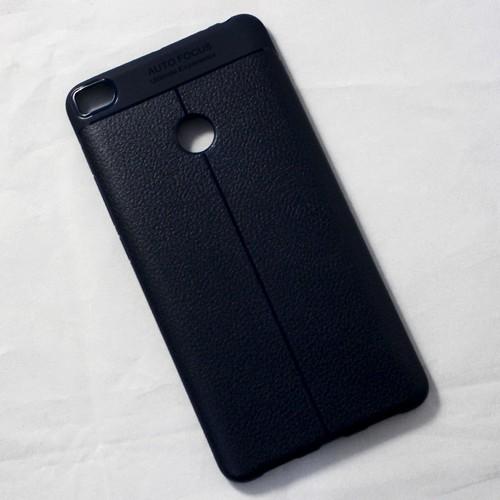 Ốp dẻo Xiaomi Mi Max 2 lưng sần xanh đen