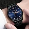 Đồng hồ nam CRNAIRA  C7122 dây thép không gỉ cao cấp + Tặng vòng tay