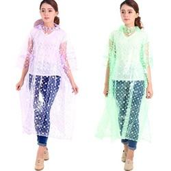 Áo mưa chấm bi màu sắc thời trang