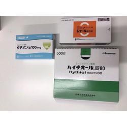 bộ ba viên uống trắng da Vitamin C  và Glutathione,L-Cystine Nhật bản