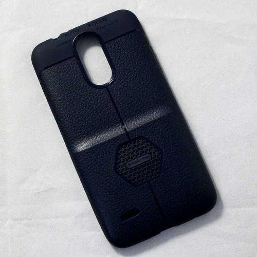 Ốp dẻo LG K7i lưng sần xanh đen
