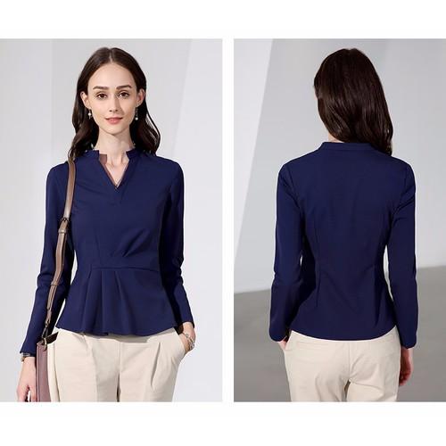 77tbb áo kiểu tay dài nữ s-6xl - hàng thiết kế