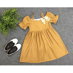 Váy bé gái hàng thiết kế vải đũi siêu mát - size 2-7 tuổi