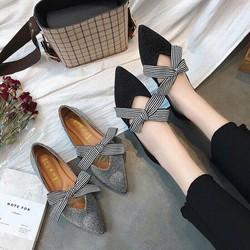 giày búp bê nơ thắt