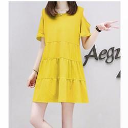 Đầm nữ ngắn tay dáng rộng, thiết kế hở vai DN017