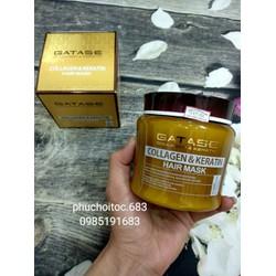 Hấp tóc phục hồi Gatase Collagen  Keratin Hair Mask 500ml