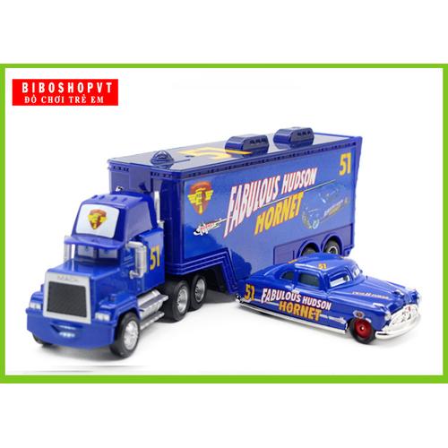 Bộ 2 Xe Ô tô Lightning McQueen bằng sắt đồ chơi trẻ em nhân vật phim Vương Quốc xe hơi
