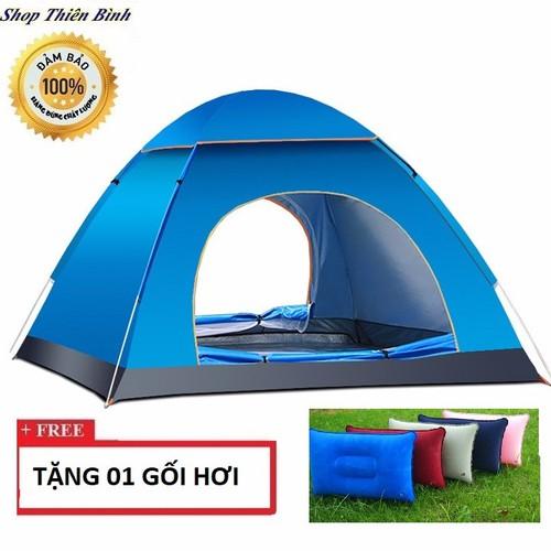 Lều cắm trại dành cho 4-6 người cỡ chuẩn 2mx2m TẶNG NGAY 1 GỐI HƠI