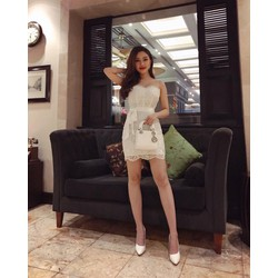 Đầm body ren 2 dây gợi cảm - Size M, L