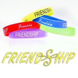 Vòng tay cao su FRIENDSHIP ý nghĩa