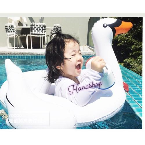 Phao bơi xỏ chân chim trắng phiên bản dành cho bé tặng bơm đi kèm