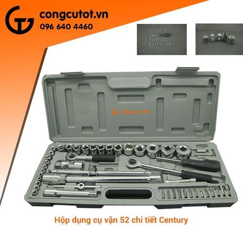 Bộ dụng cụ vặn 52 chi tiết Century