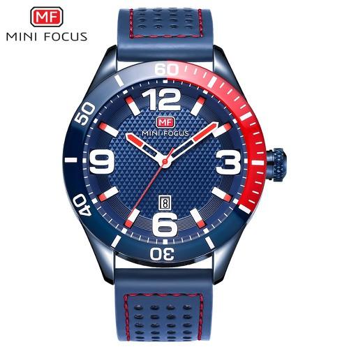Đồng hồ nam Mini Focus dây da thể thao mạnh mẽ MF155