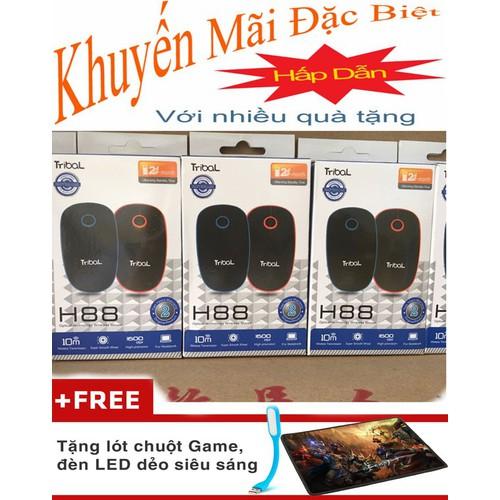 chuột máy tính Mouse Không dây Tribal H110 Tặng Lót Chuột, Đèn Led