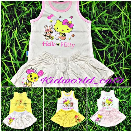 Set 2 bộ quần váy chất cotton cho bé từ 3 đến 18 tháng
