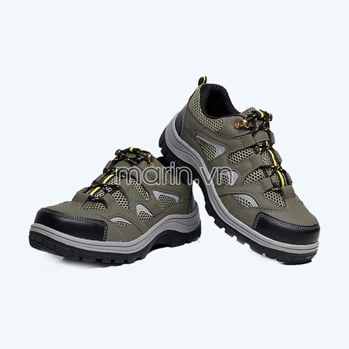 Giày bảo hộ lao động Hunter 218 màu xanh rêu
