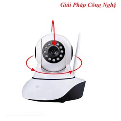 Giảm 12K phí vận chuyển - Camera IP An Ninh Hai Râu Xoay 360 Độ Kết Nối Wifi