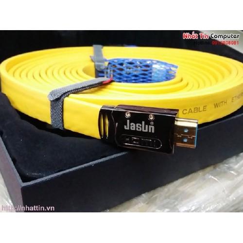 Cáp HDMI 2.0 Jasun 10M Hỗ trợ 4K x 2k@60Mhz, 3D cho Tivi 4K Chính hãng