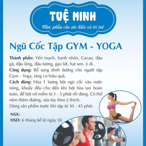 Bột ngũ cốc tập Gym – Yoga Tuệ Minh 500gr