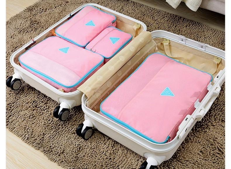 Combo 4 Túi Happy Travel chống thấm sắp xếp vali ngăn nấp 3